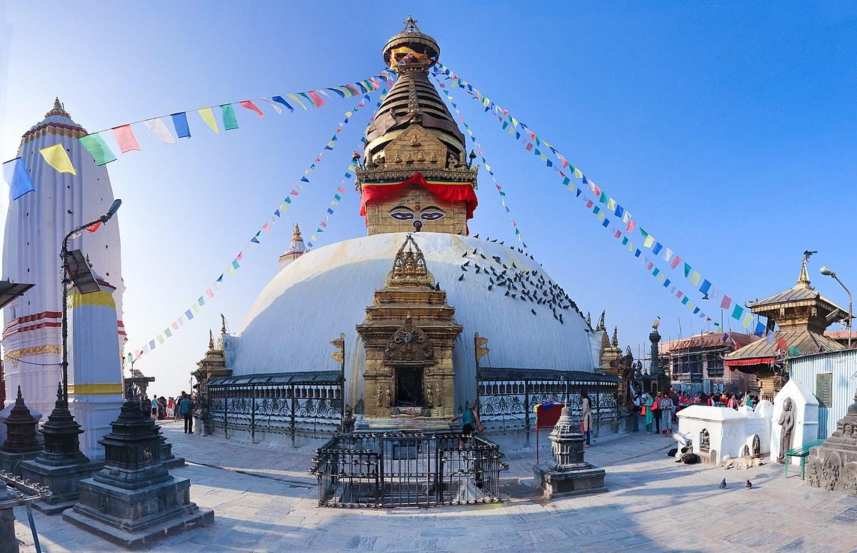Swayambhu Mandir  Nepal a monkey temple